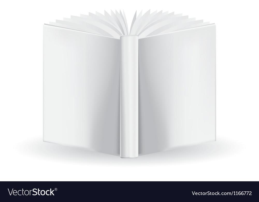 White book vector image