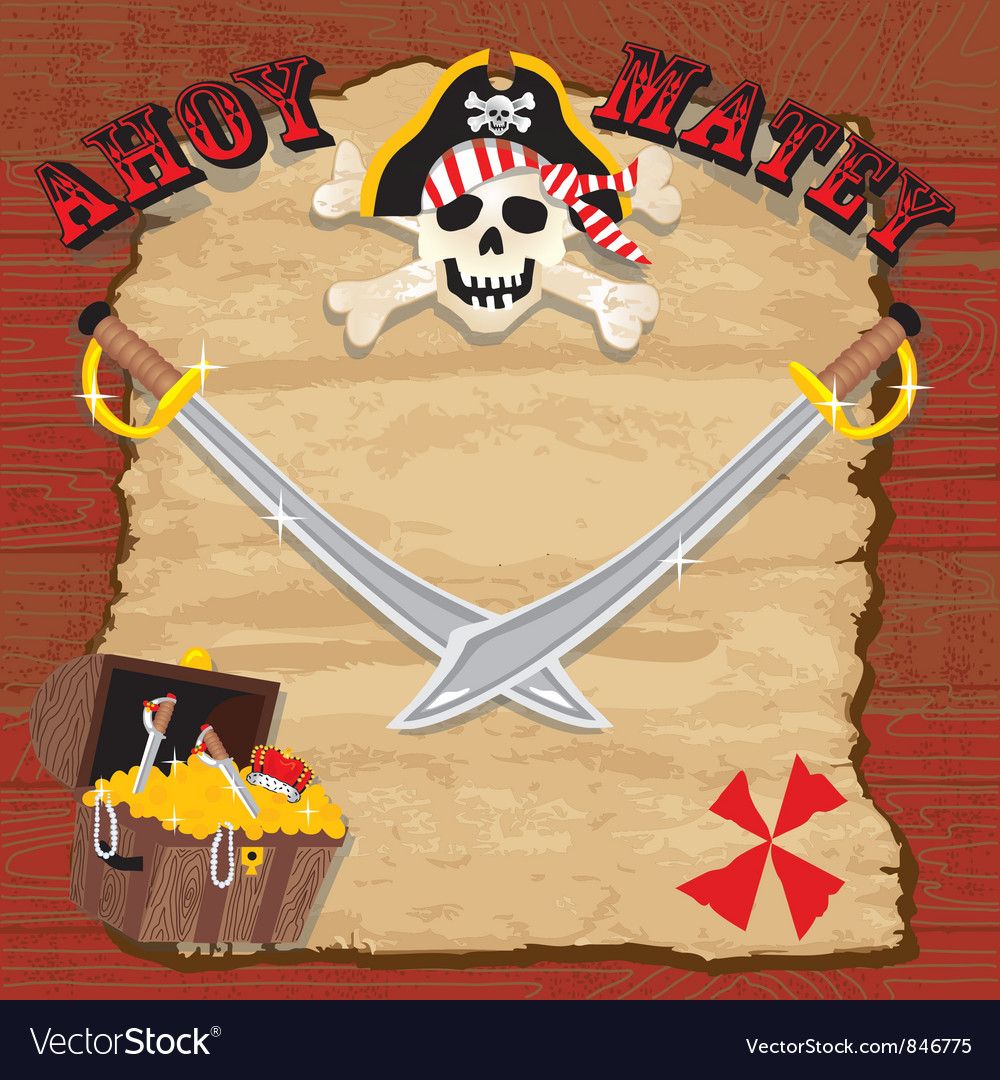 Pirate party invitation vector image