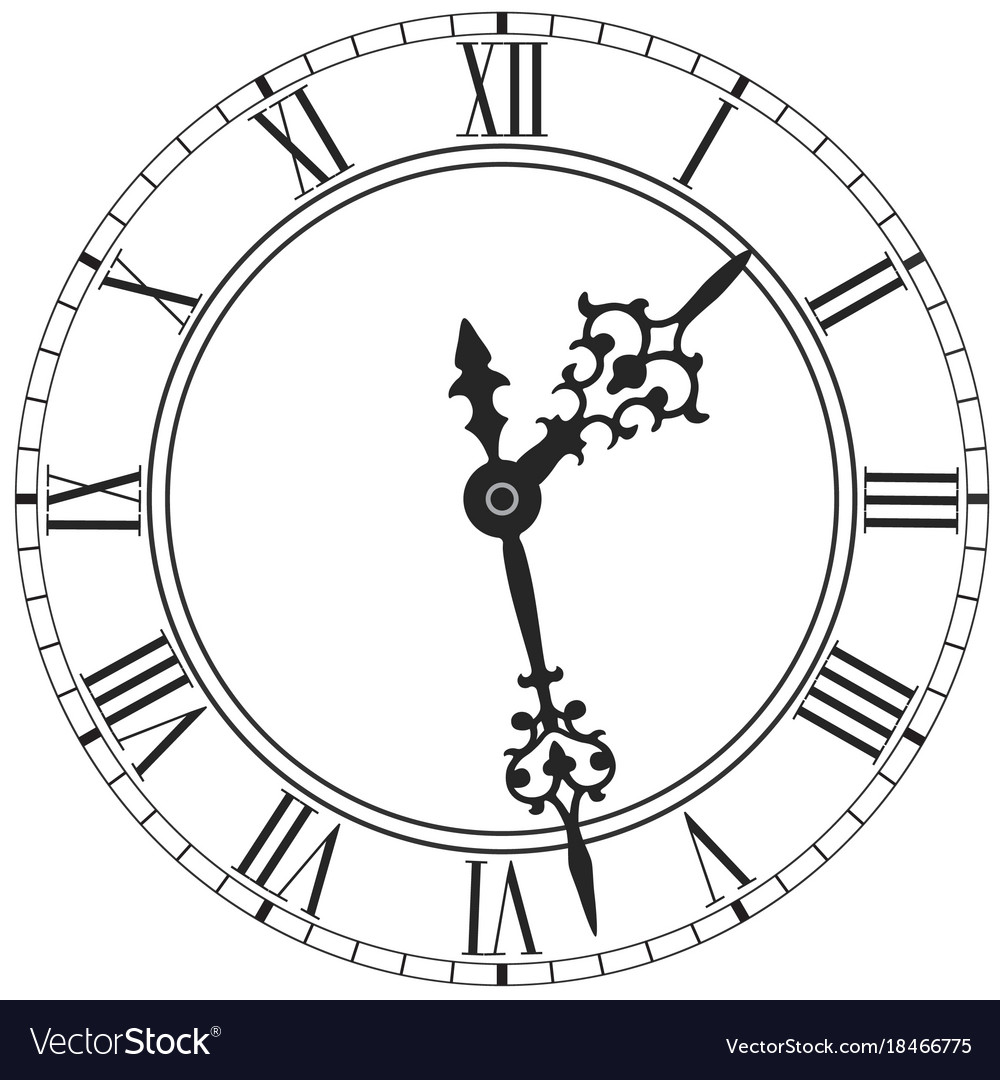 list of synonyms and antonyms of the word: clock face