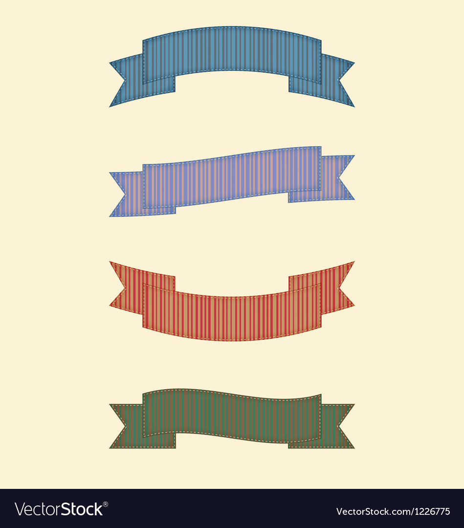 Ribbon 1 vector image