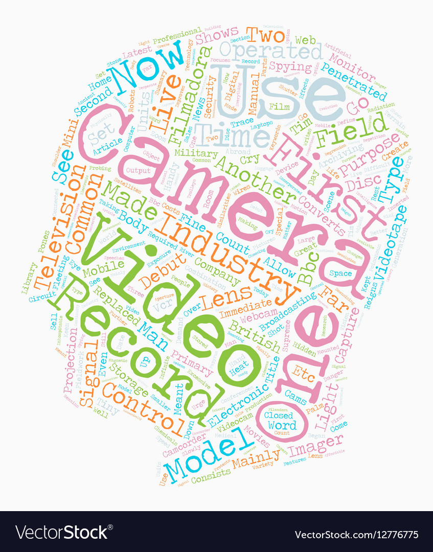The Video Camera Reigns Supreme text background vector image
