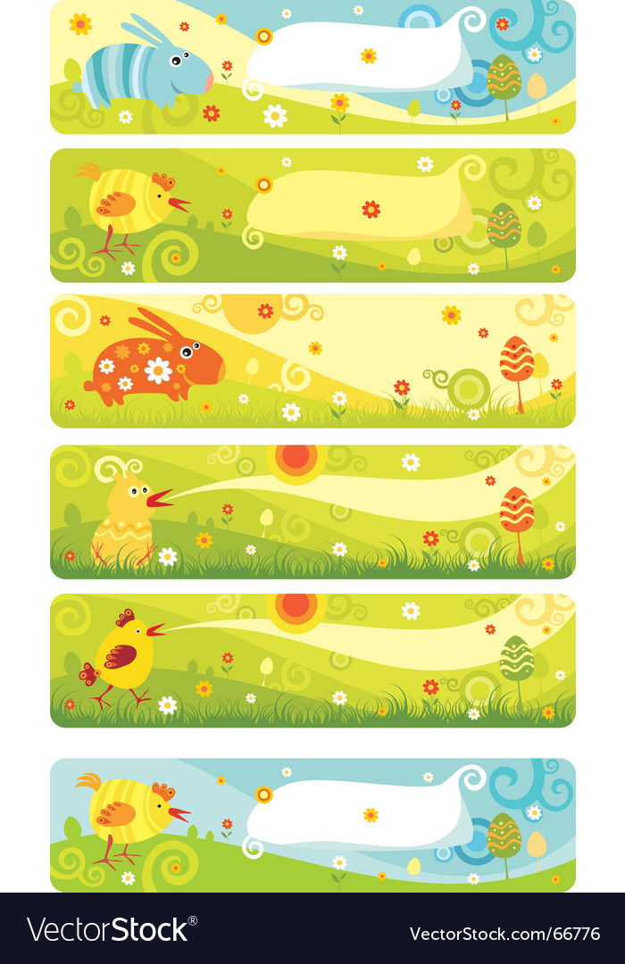 Animal banners Vector Image