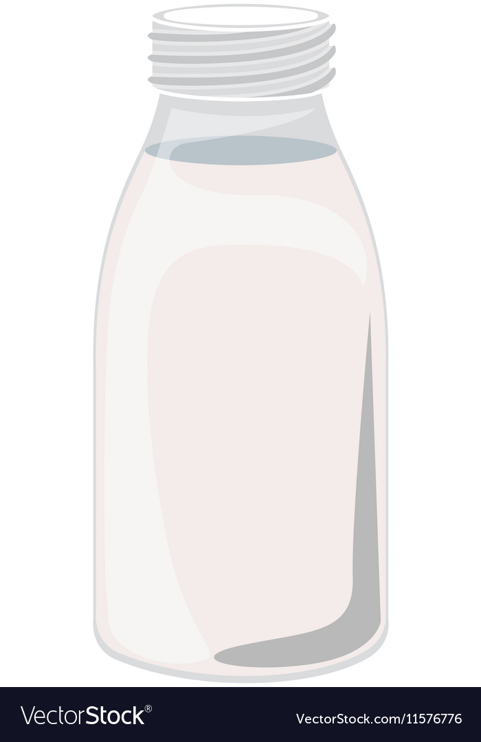 Full color with glass bottle vector image