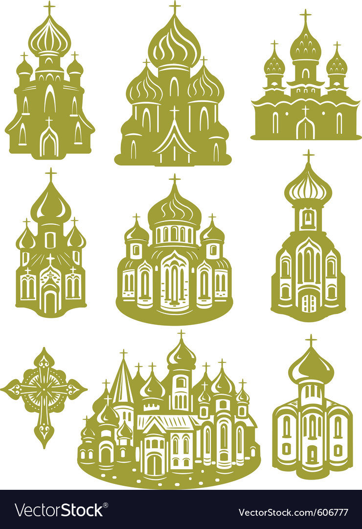 Church orthodox vector image