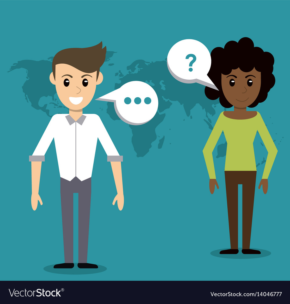 People communication talking world vector image