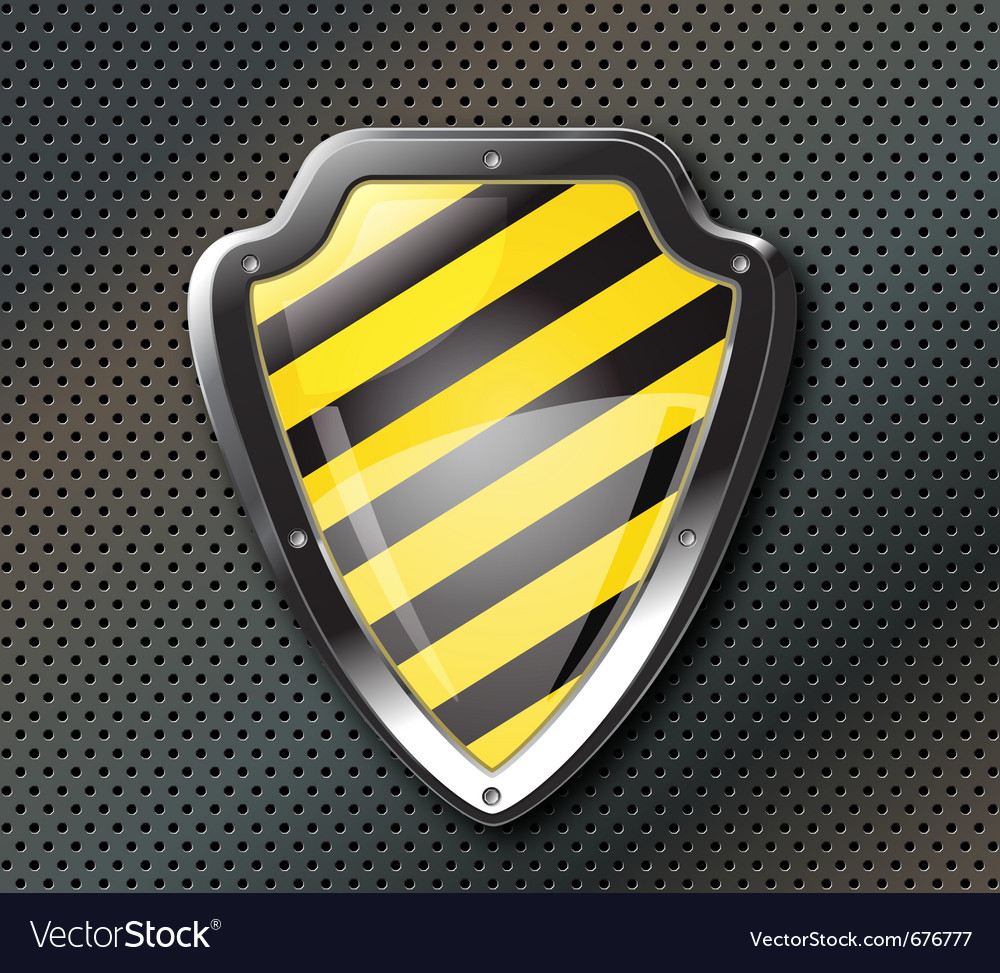 Techno shield vector image