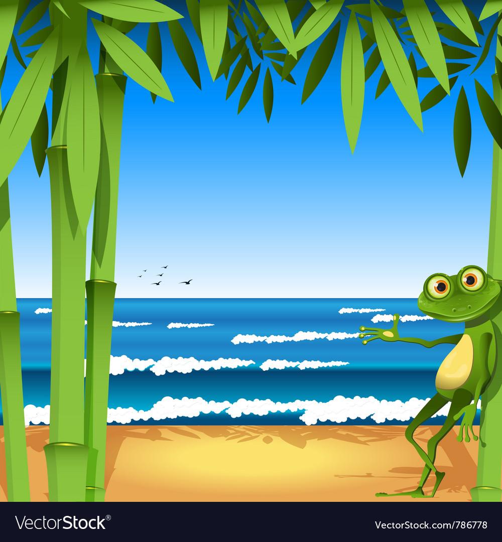 Holiday frog vector image