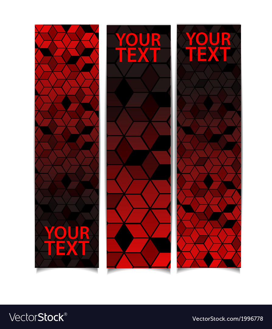 Set of abstract banners vector image