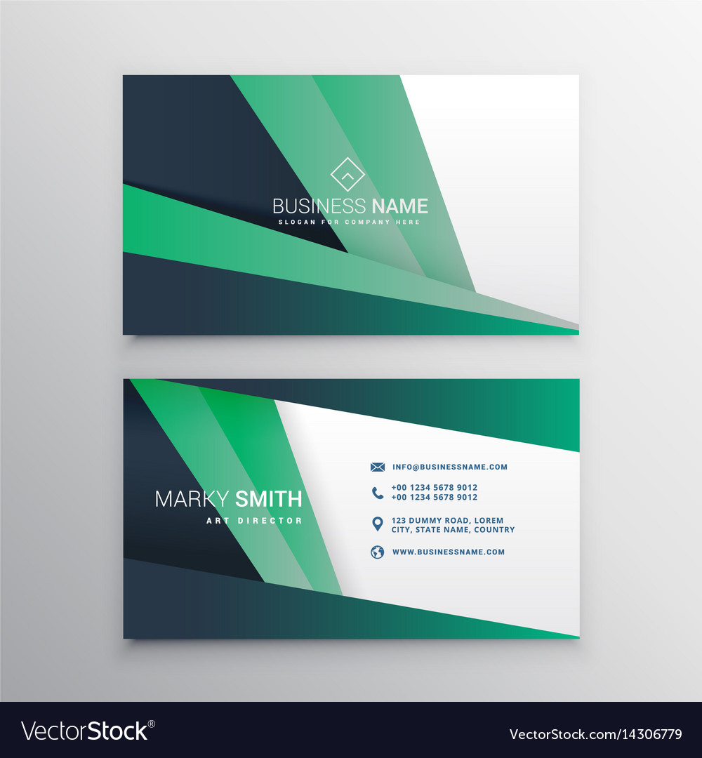Creative geometric business card design Royalty Free Vector