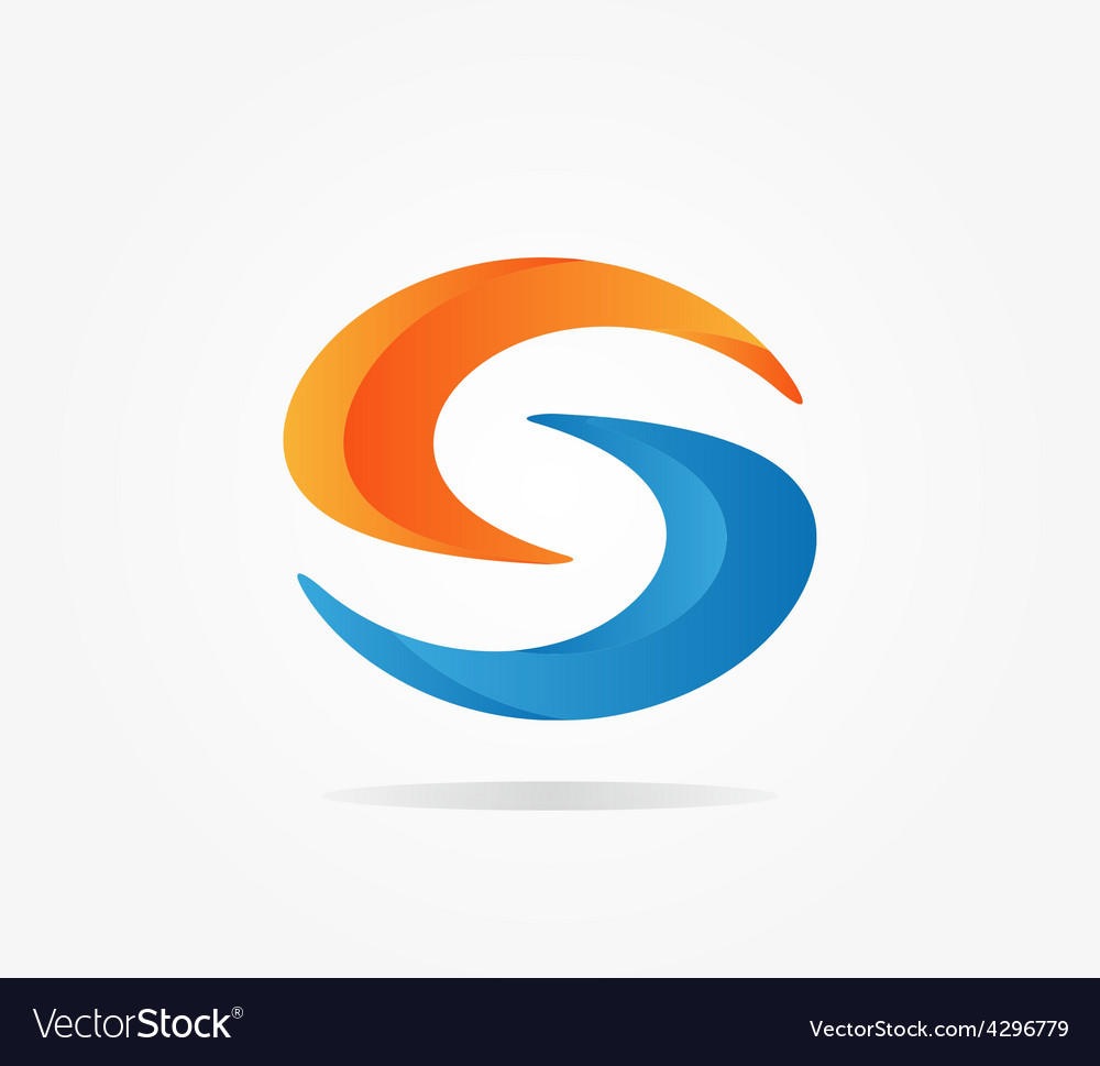 Logo S letter for company design template vector image