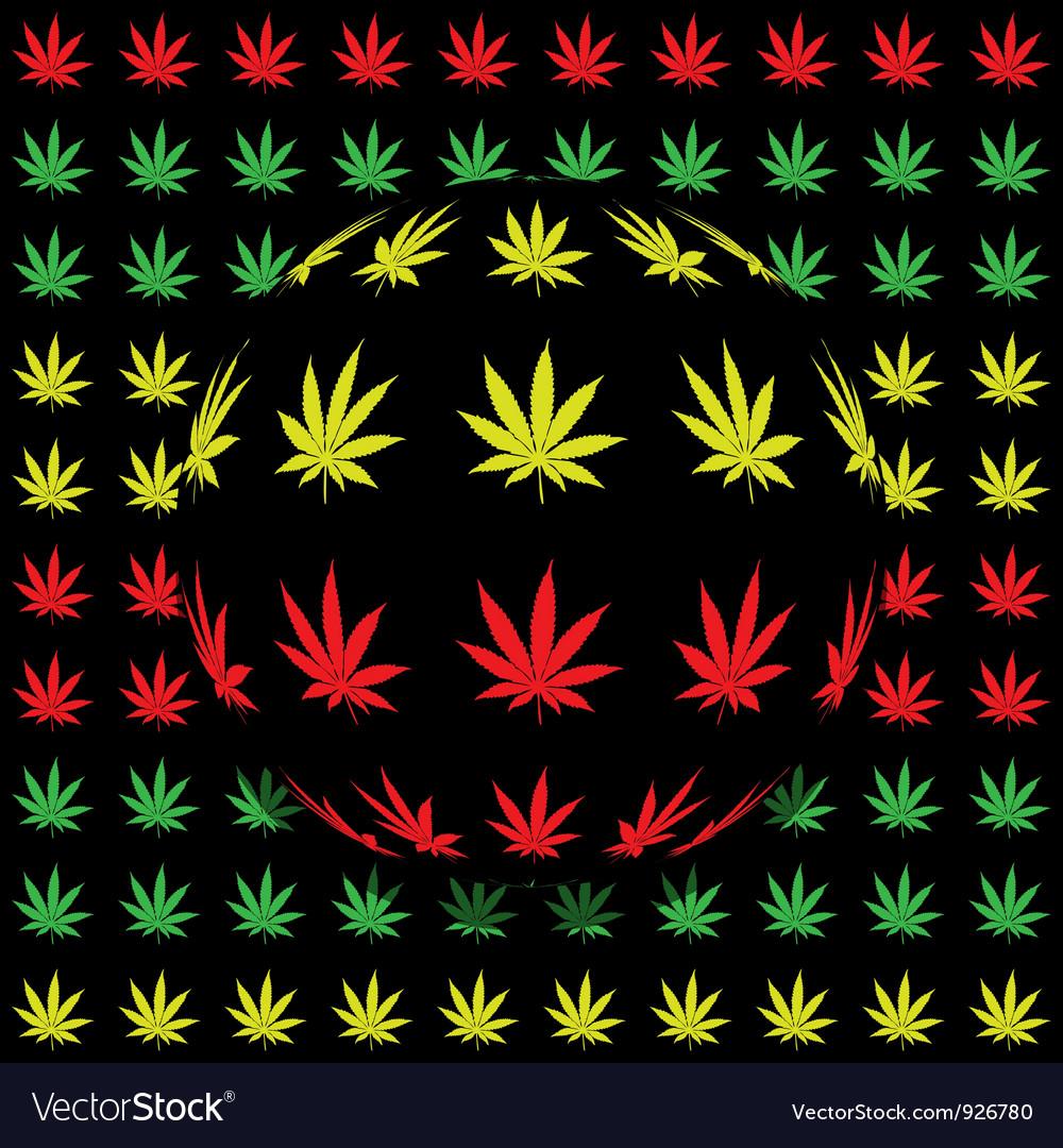 Marijuana background vector image