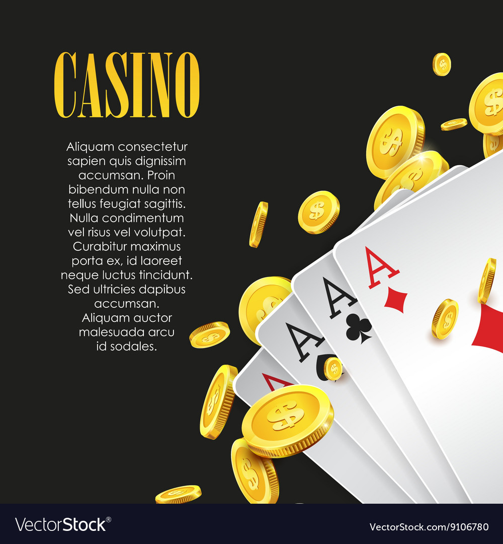Casino Poker poster or banner background or flyer vector image