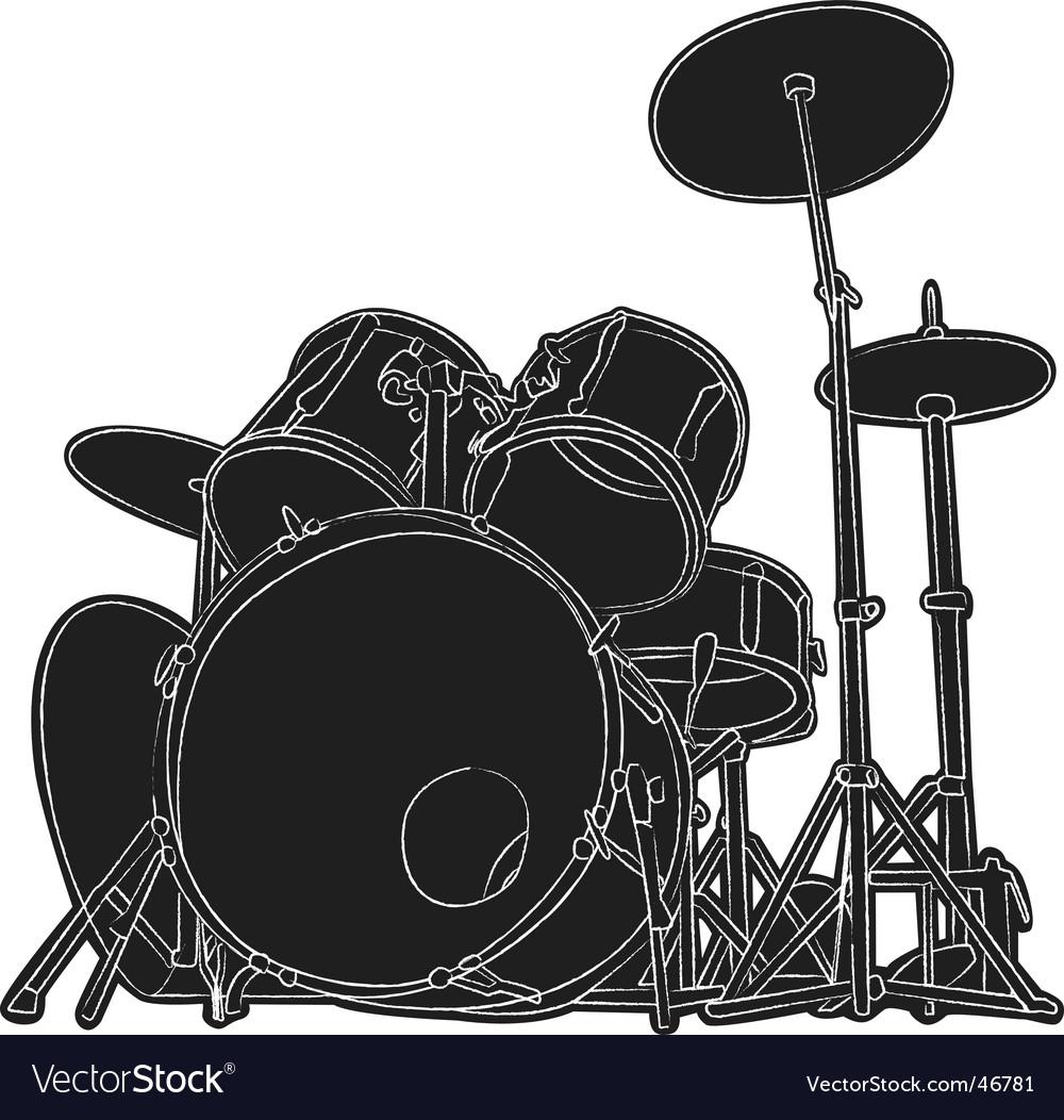 Drums sketch Vector Image