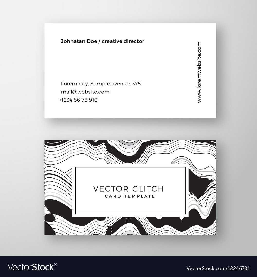 Glitch abstract geometry minimal business vector image