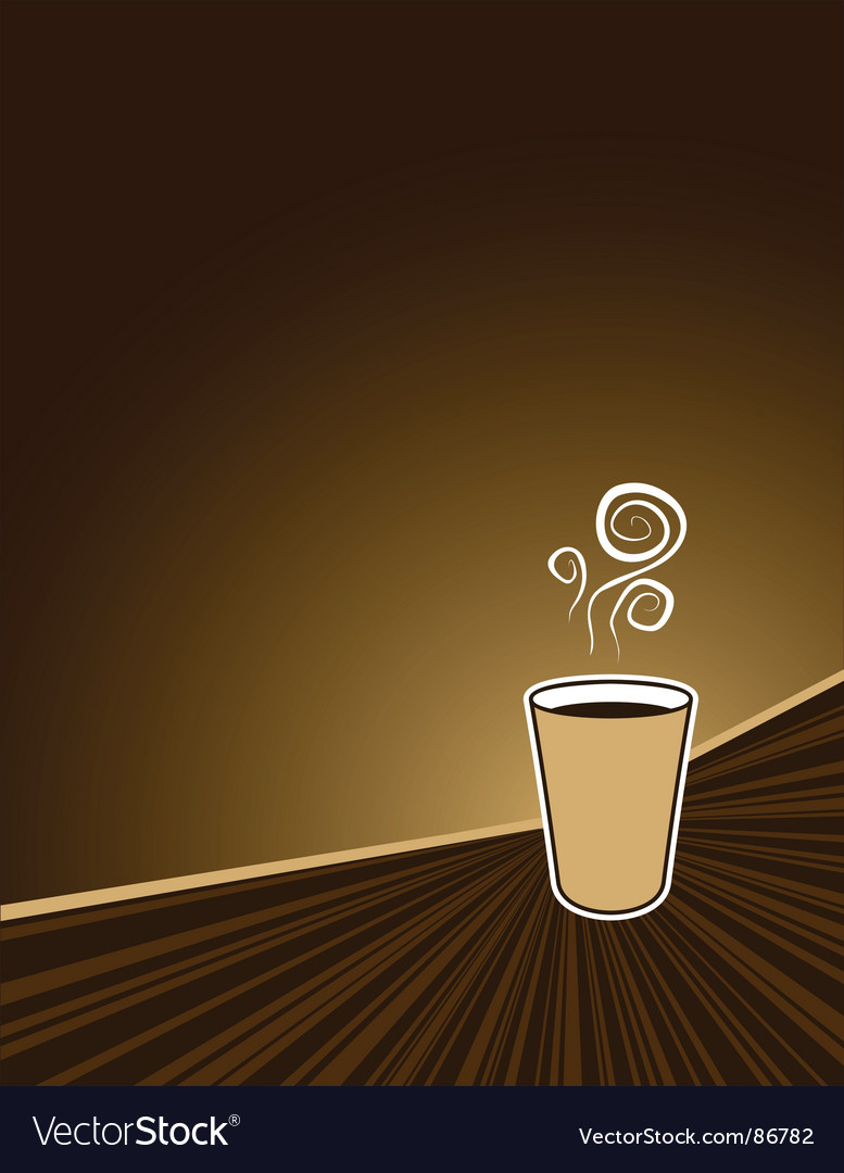 Coffee rush background vector image