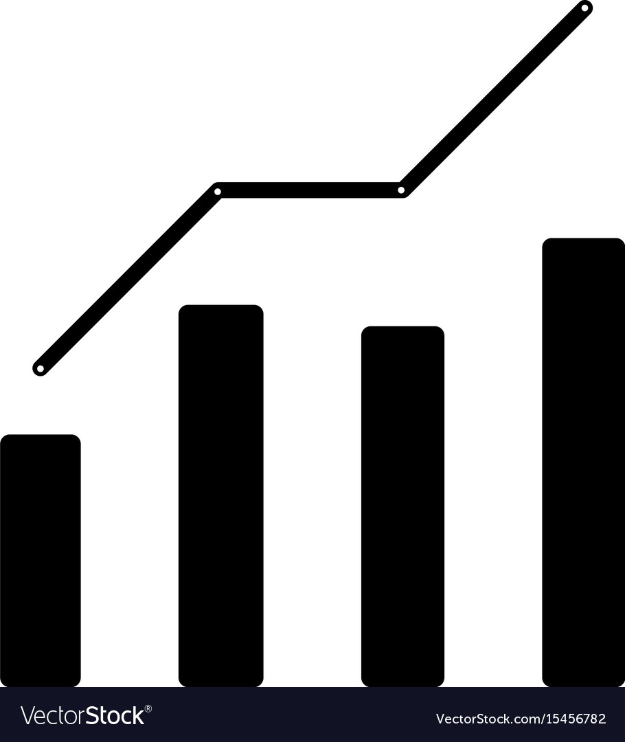 Growth chart the black color icon royalty free vector image growth chart the black color icon vector image nvjuhfo Choice Image