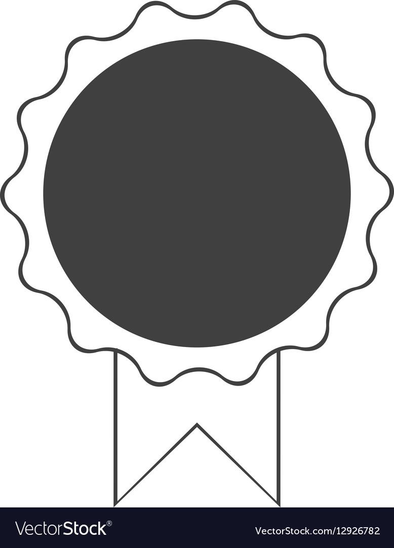 Premium quality badge ribbon dark bakground vector image