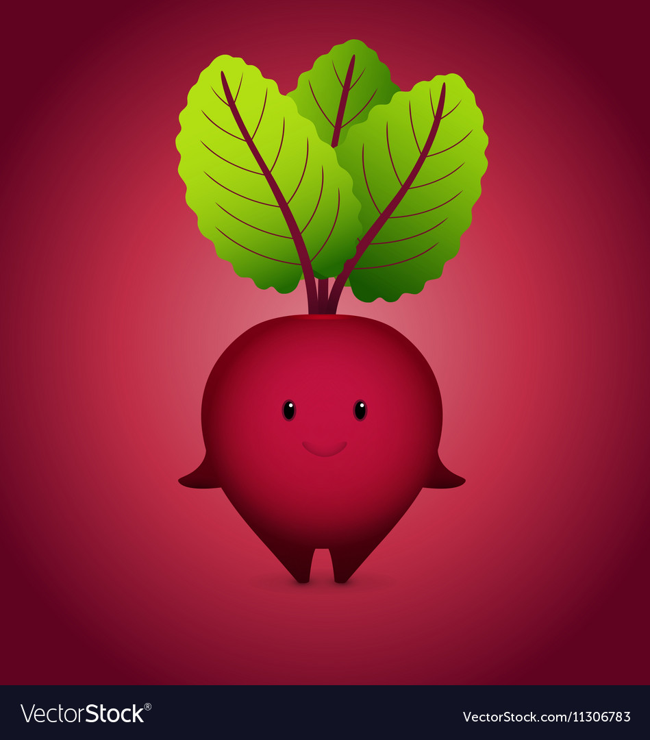 Baby Bordo Beet Cartoon Character vector image