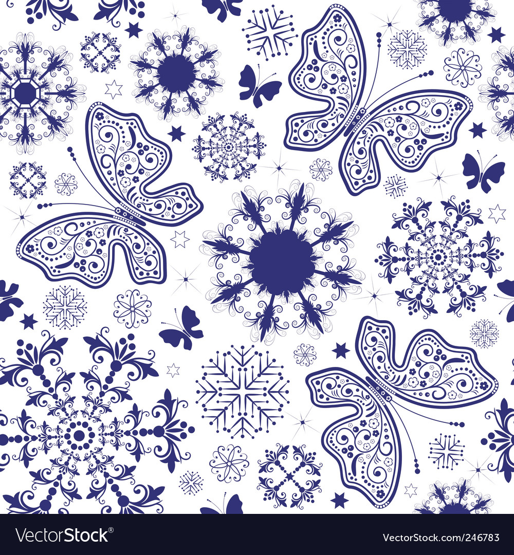 Seamless white violet Christmas wallpaper vector image