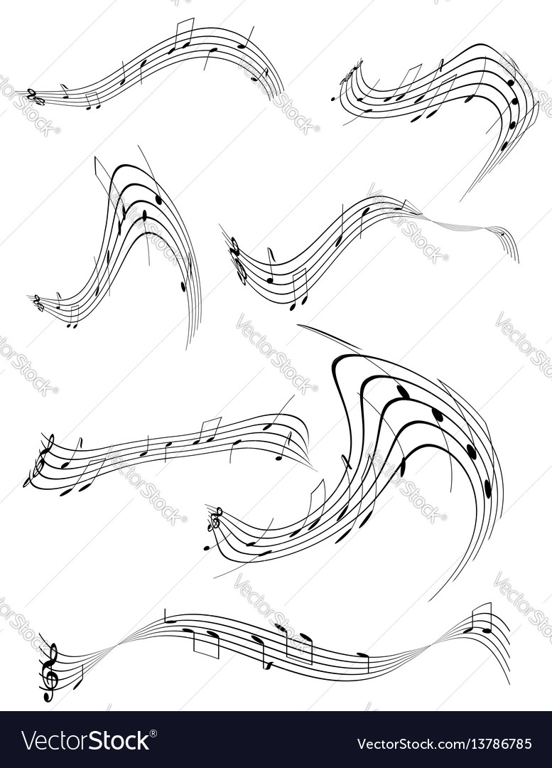 Abstract musical notes stock vector image