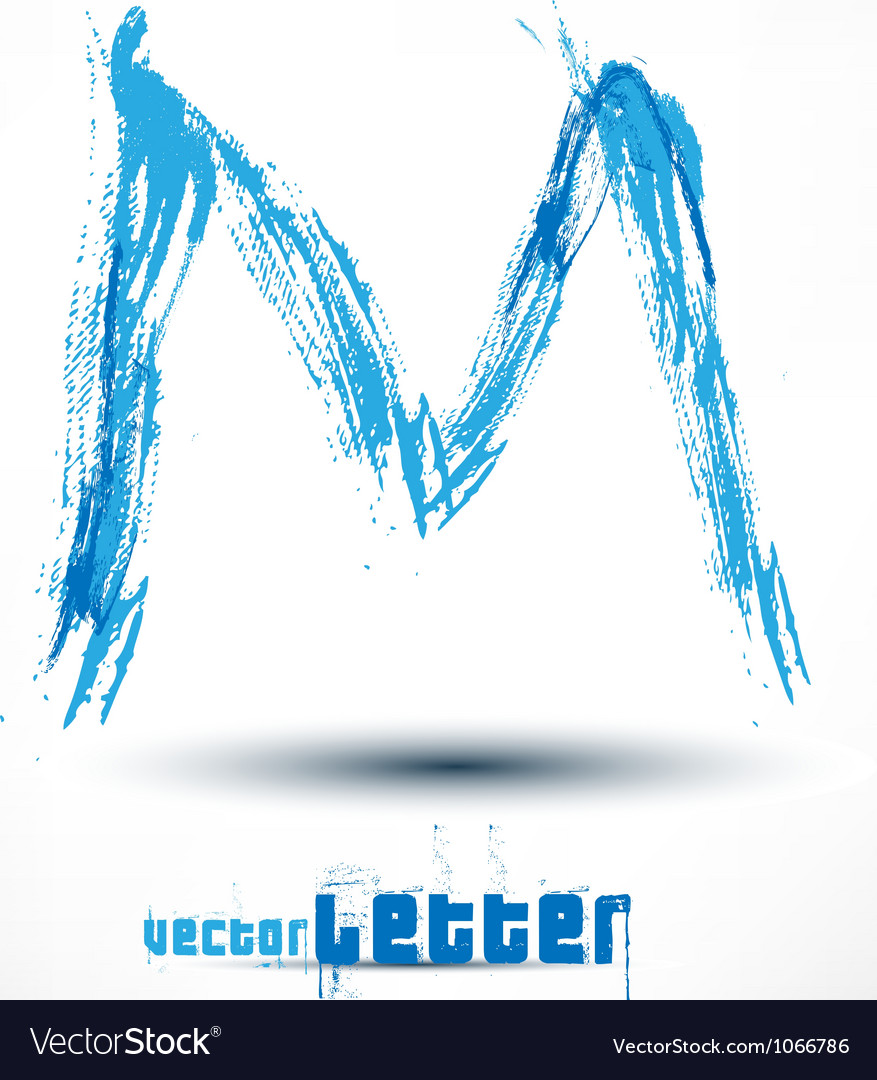 Drawn by hand letter Grunge wave vector image