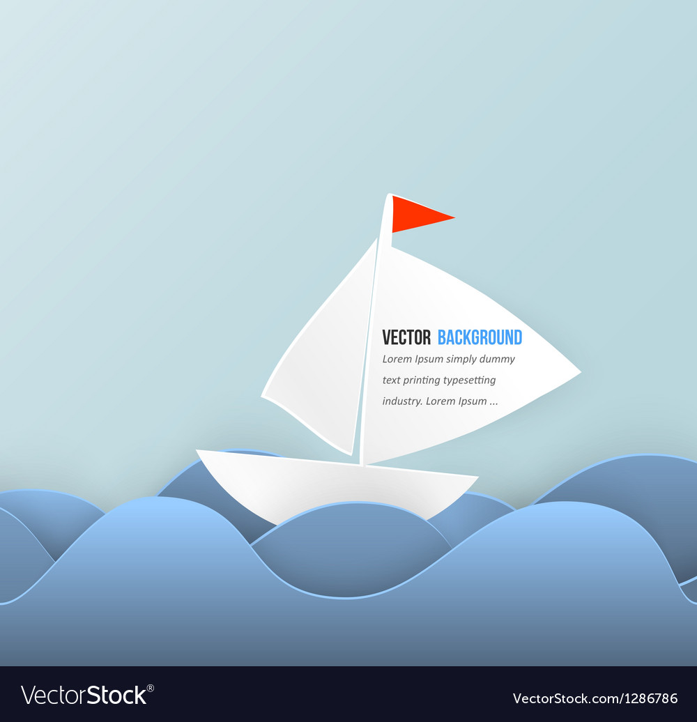 Mobile icon and boat vector image