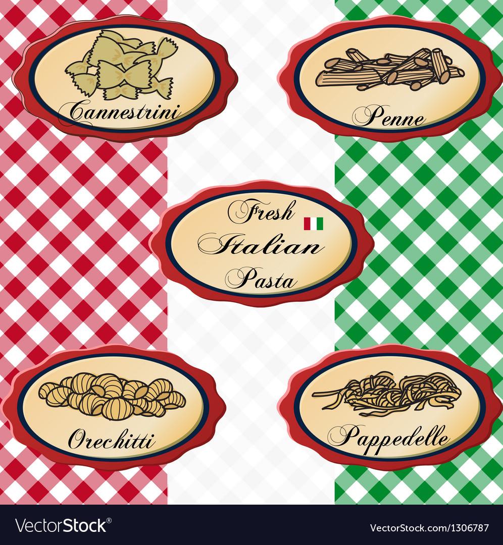 Italian pasta vector image