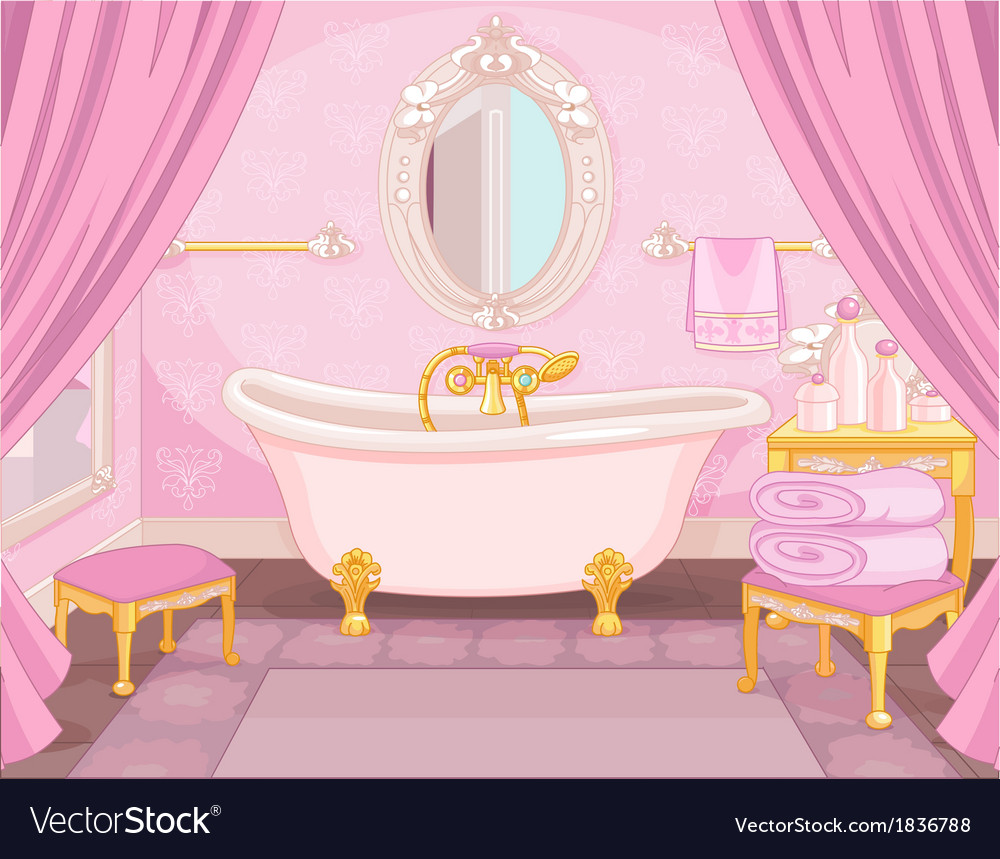 interior of bathroom in the castle royalty free vector image