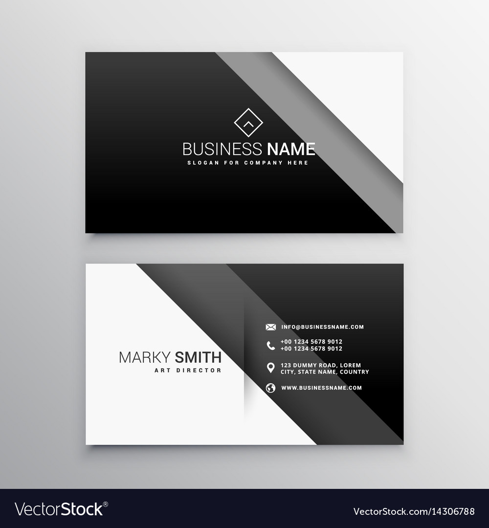 Black and white minimal business card Royalty Free Vector