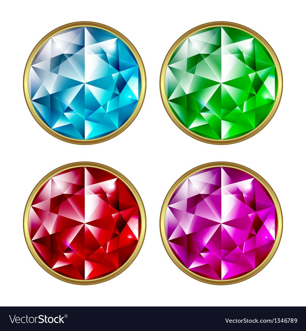 Precious stones Royalty Free Vector Image - VectorStock