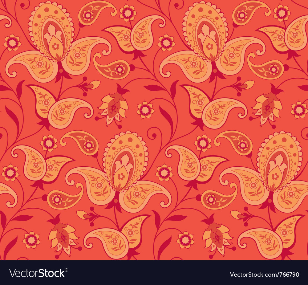 Seamless ornate background vector image