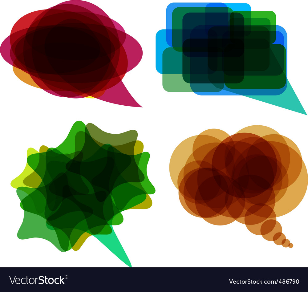Speech balloons vector image