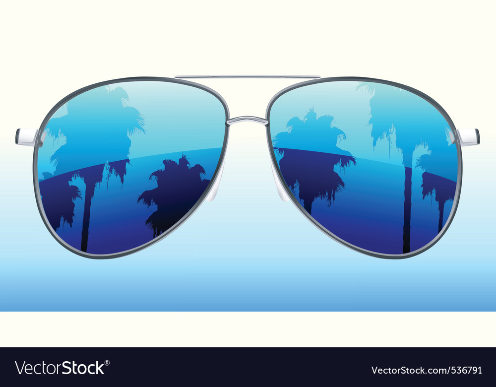 Vector illustration of funky sunglasses with the r vector image