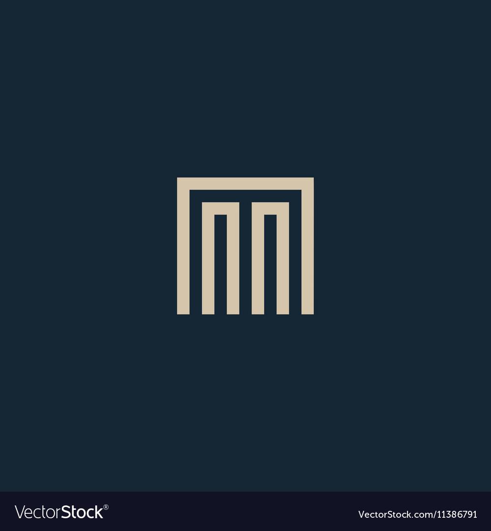 Unusual geometric letter M Architecture vector image