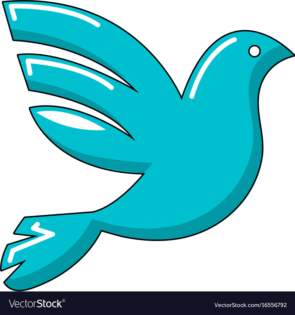 White peace pigeon icon cartoon style vector image