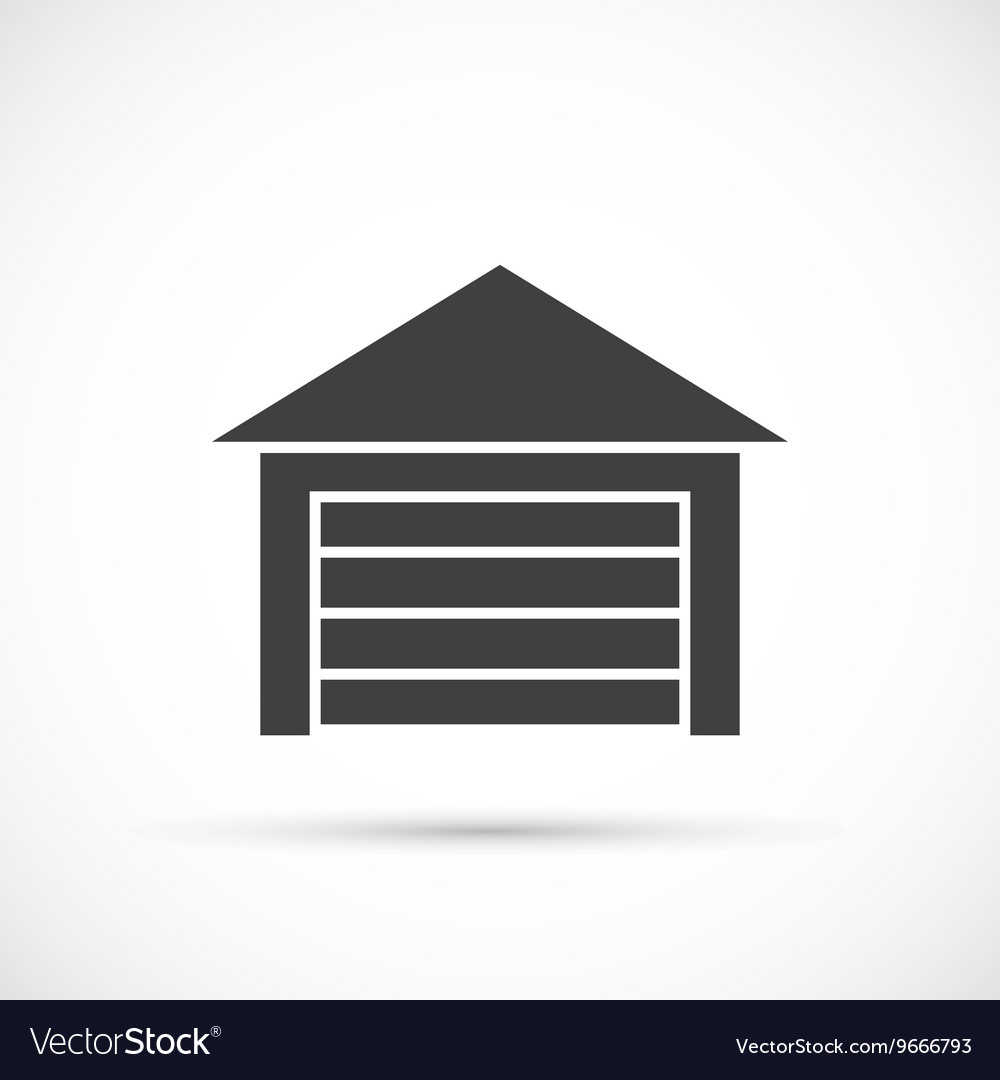 Garage icon on white vector image