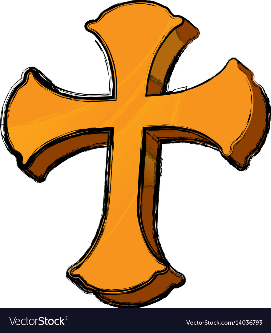 Saint cross christianity vector image