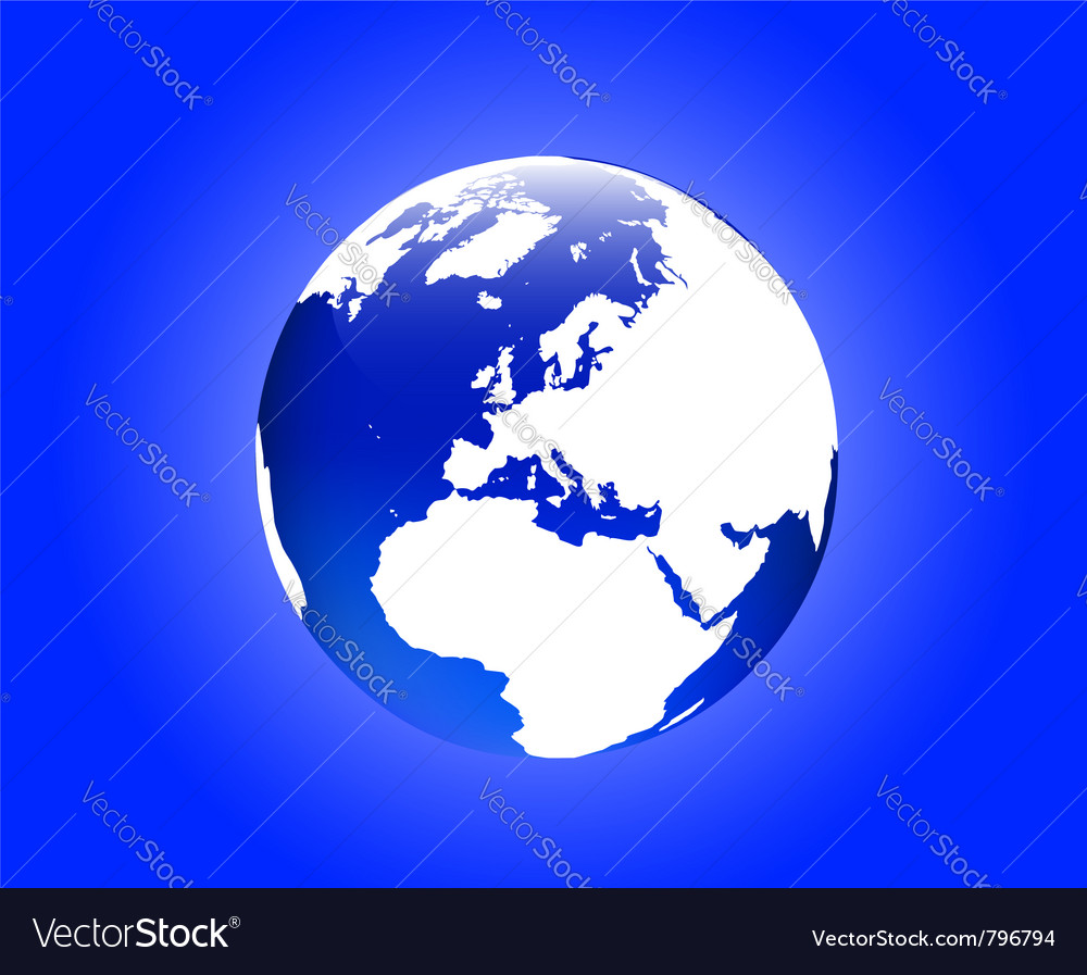 Globe europe vector image