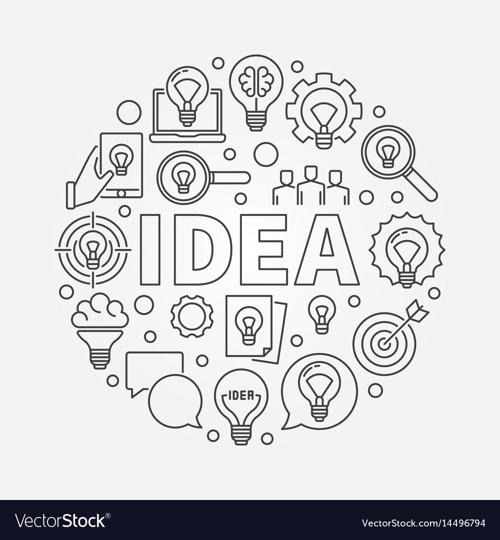 Idea round vector image