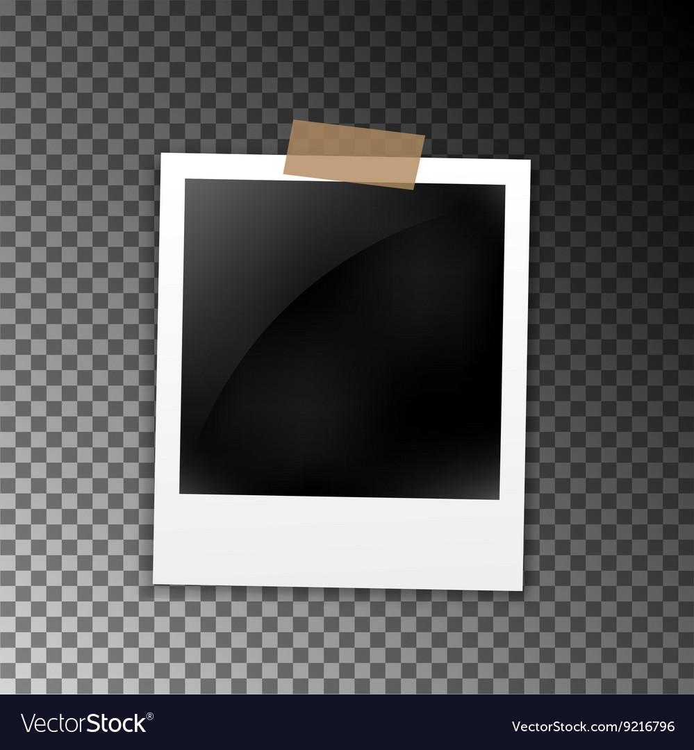 Photo frame polaroid template on transparent grid Royalty Free – Polaroid Template