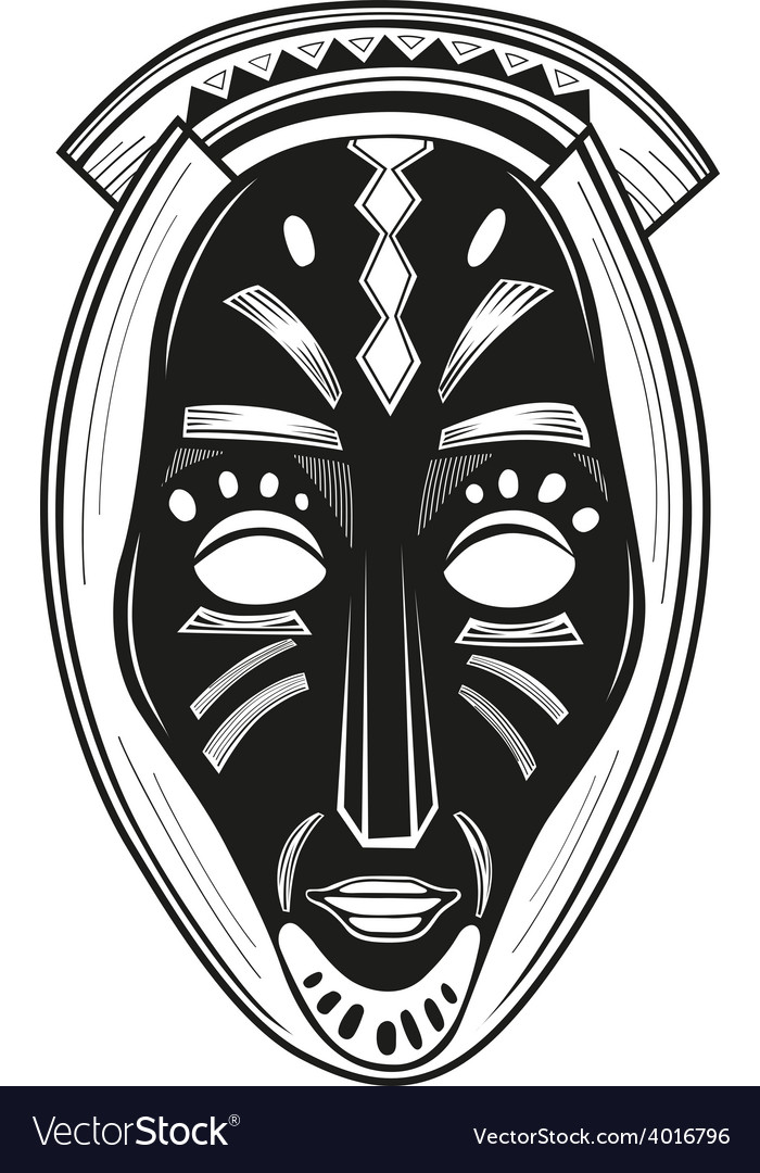 African tribal mask Royalty Free Vector Image - VectorStock