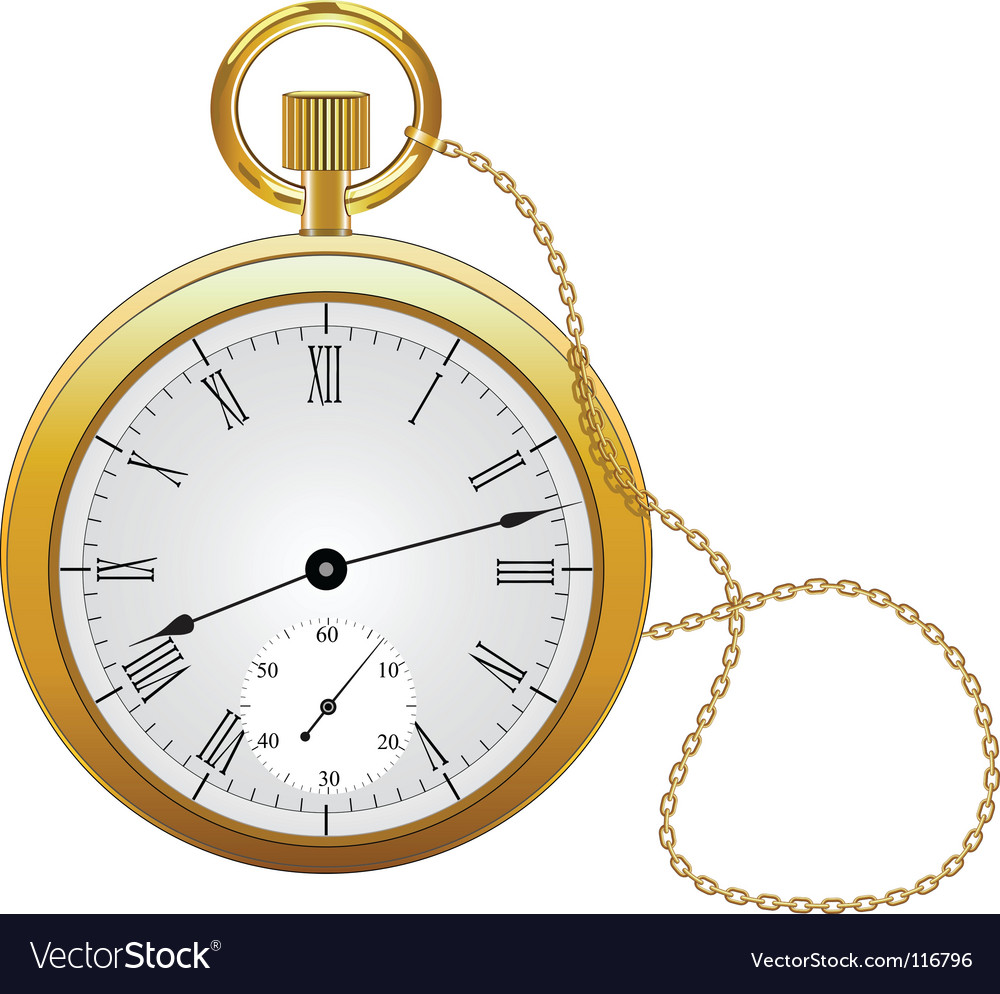 Pocket watch vector image