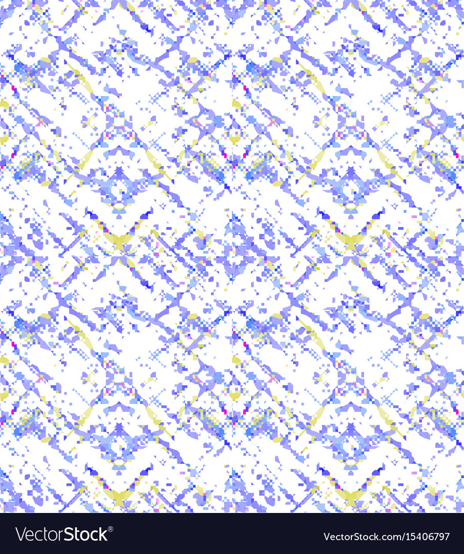 Blue yellow grunge openwork pattern vector image