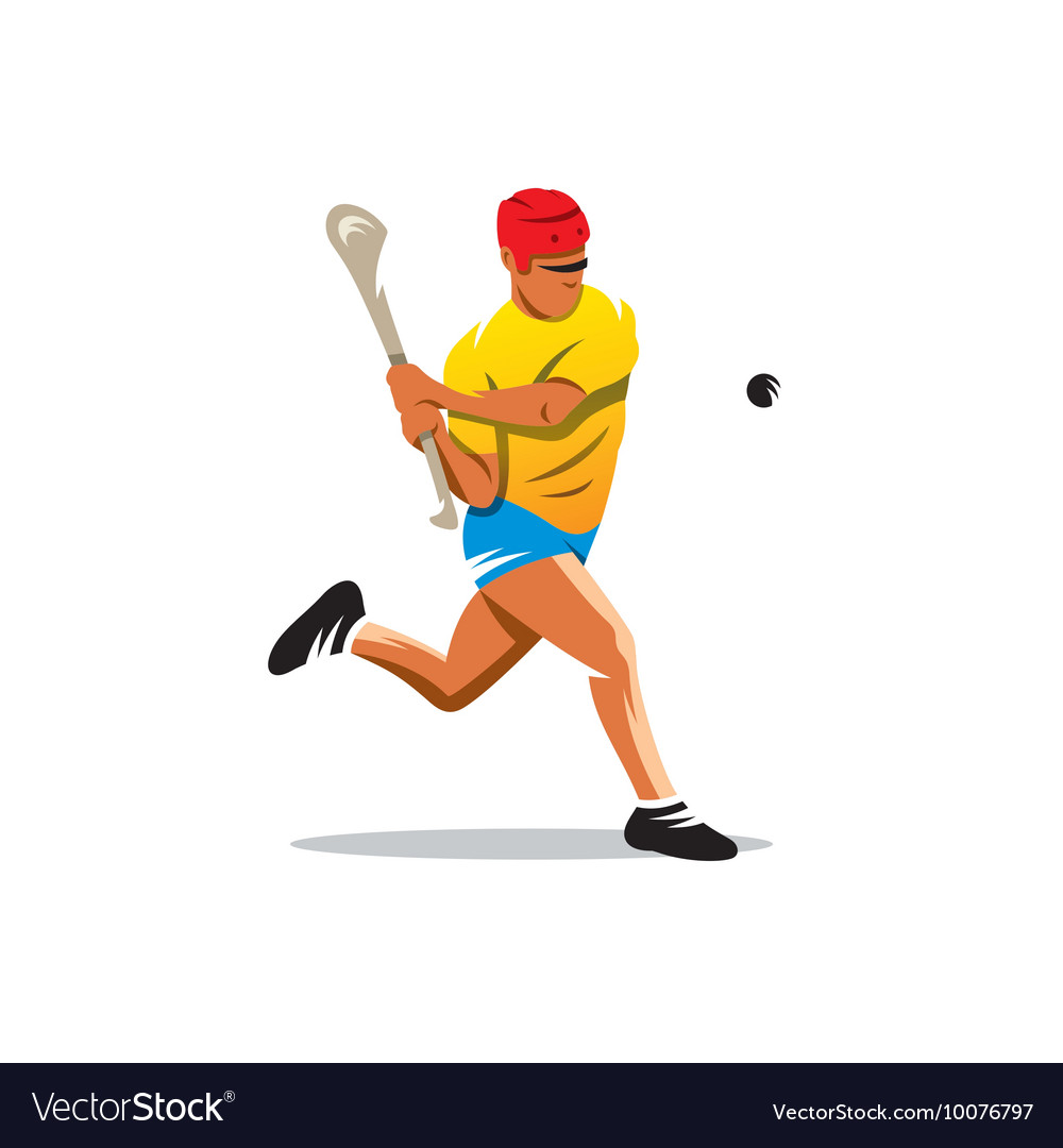 Hurling player Cartoon vector image