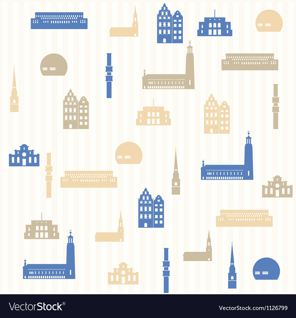 Stockholm seamless pattern vector image