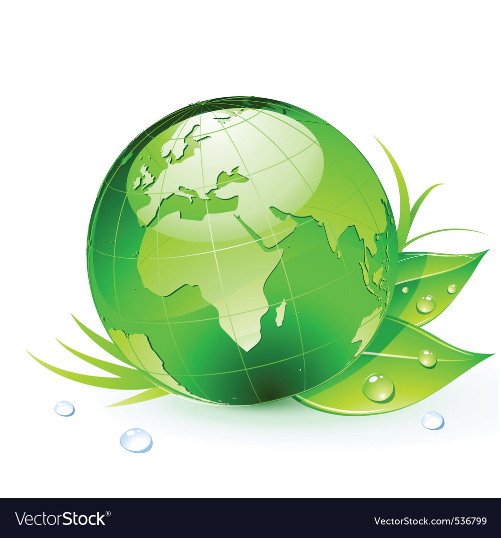 Green planet earth vector image