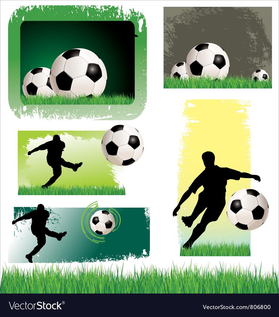 Soccer Banner set vector image