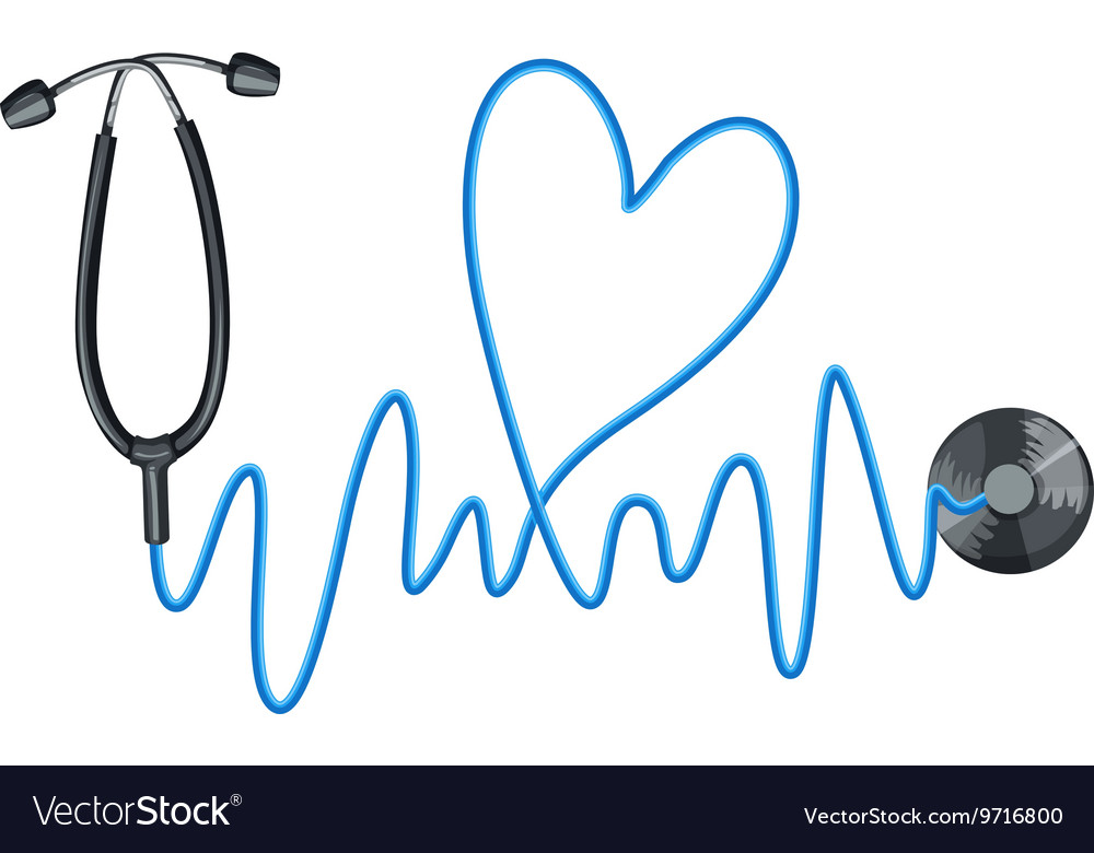 Stethoscope as symbol of good health vector image