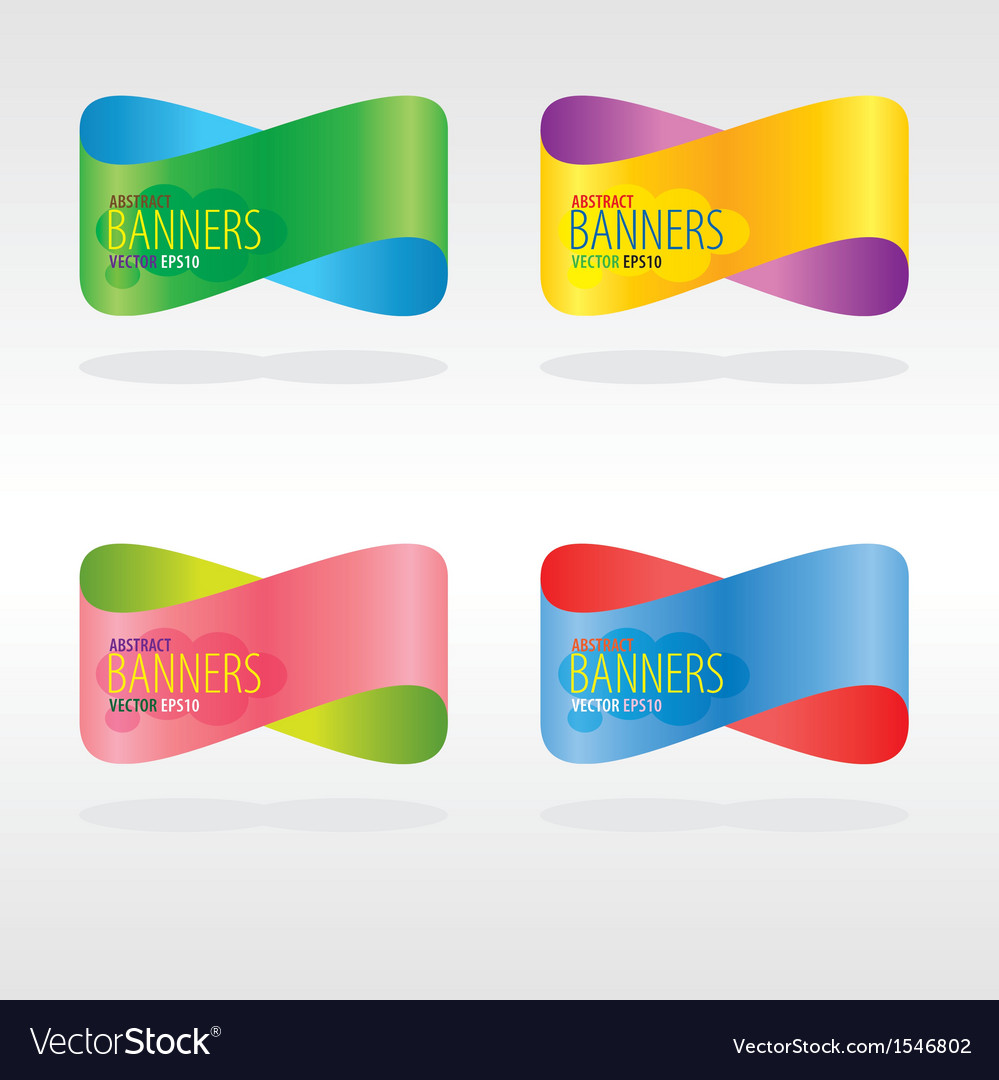 Colorful Abstract Banners EPS10 vector image