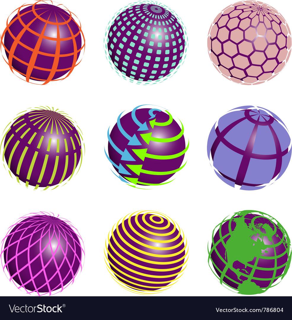 Nine symbols vector image